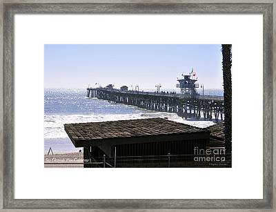 San Clemente Pier California Framed Print by Clayton Bruster