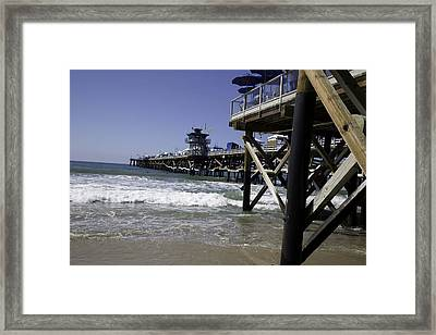San Clemente Pier Framed Print by Joenne Hartley