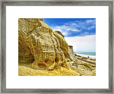 San Clemente Skull Rock Framed Print by Gregory Dyer