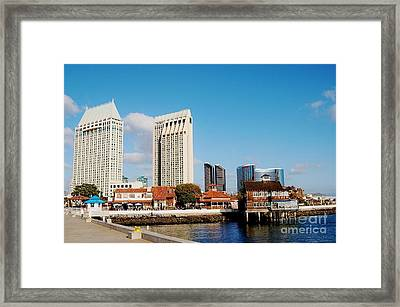 Framed Print featuring the photograph San Diego - Seaport Village by Jasna Gopic