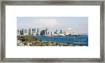 Framed Print featuring the photograph San Diego Bay Skyline by MaryJane Armstrong