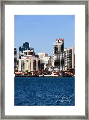 San Diego Buildings Photo Framed Print by Paul Velgos