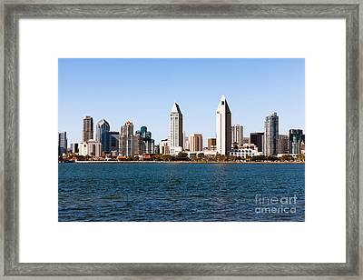 San Diego City Skyline Framed Print by Paul Velgos