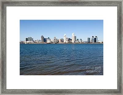 San Diego Cityscape Framed Print by Paul Velgos