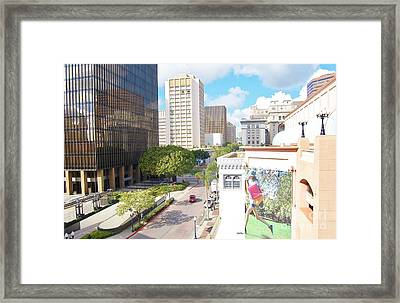 Framed Print featuring the photograph San Diego Downtown by Jasna Gopic