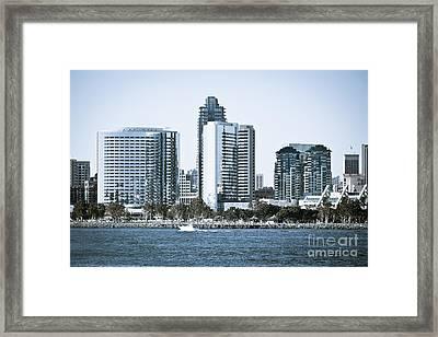 San Diego Downtown Waterfront Buildings Framed Print by Paul Velgos