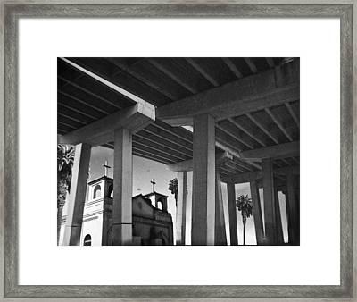 San Diego Freeway Framed Print by Larry Butterworth