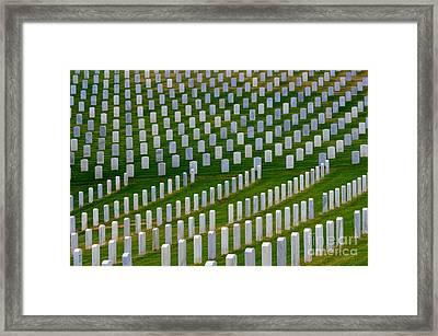 San Diego Military Memorial 2 Framed Print by Bob Christopher