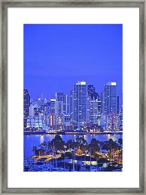 San Diego Skyline And Harbour Island Framed Print by Stuart Westmorland