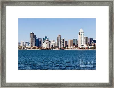 San Diego Skyline Buildings Framed Print by Paul Velgos