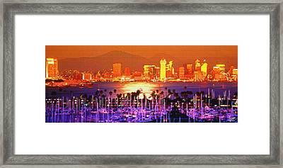 San Diego Sunset Framed Print by Steve Huang