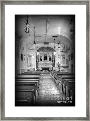 San Felipe De Neri Church Framed Print by Donna Greene