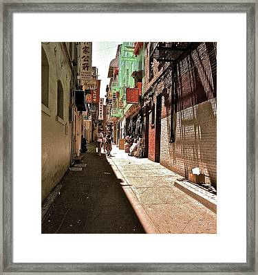 Framed Print featuring the photograph San Fran Chinatown Alley by Bill Owen