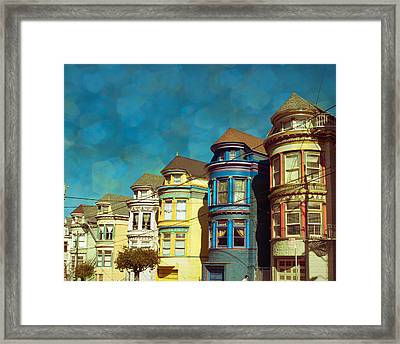 San Fran Row Houses Framed Print by Sonja Quintero