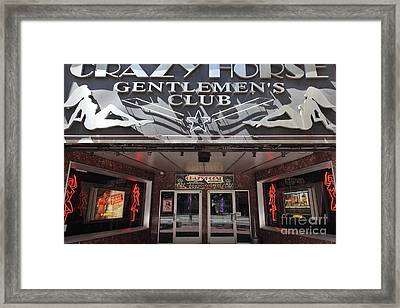 San Francisco - Crazy Horse Gentlemen's Club On Market Street - 5d17977 Framed Print by Wingsdomain Art and Photography