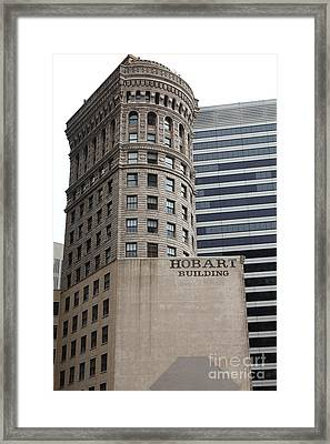 San Francisco - Hobart Building On Market Street - 5d17870 Framed Print by Wingsdomain Art and Photography