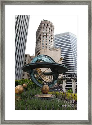 San Francisco - Hobart Building On Market Street Viewed From Top Of Crocker Galleria - 5d17872 Framed Print by Wingsdomain Art and Photography