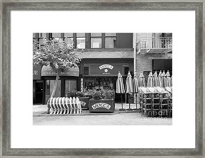 San Francisco - Maiden Lane - Mocca Cafe - 5d17788 - Black And White Framed Print by Wingsdomain Art and Photography