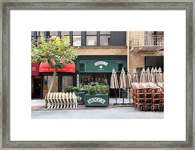 San Francisco - Maiden Lane - Mocca Cafe - 5d17788 Framed Print