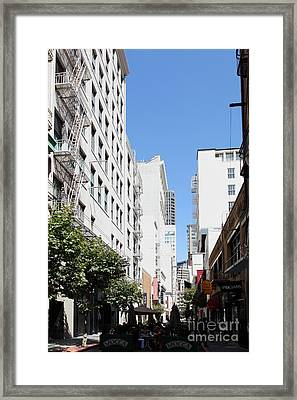 San Francisco - Maiden Lane - Outdoor Lunch At Mocca Cafe - 5d18011 Framed Print