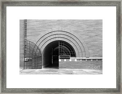 San Francisco - Maiden Lane - Xanadu Gallery - Frank Lloyd Architecture - 5d17793 - Black And White Framed Print by Wingsdomain Art and Photography