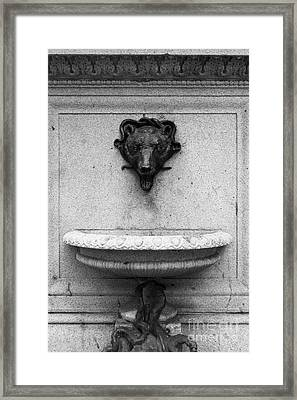 San Francisco - Monument On Market Street - 5d17847 - Black And White Framed Print by Wingsdomain Art and Photography