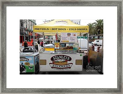 San Francisco - Stanley's Steamers Hot Dog Stand - 5d17929 Framed Print by Wingsdomain Art and Photography