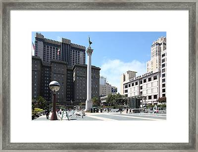 San Francisco - Union Square - 5d17933 Framed Print