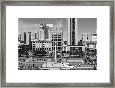 San Francisco - Union Square - 5d17938 - Black And White Framed Print