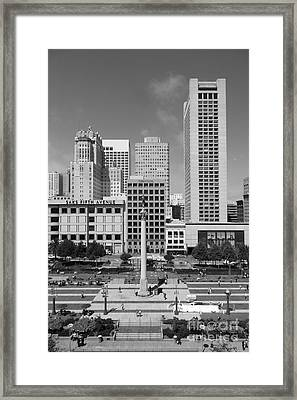 San Francisco - Union Square - 5d17941 - Black And White Framed Print