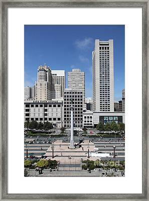 San Francisco - Union Square - 5d17941 Framed Print by Wingsdomain Art and Photography