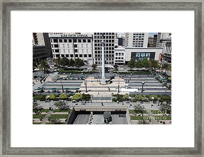 San Francisco - Union Square - 5d17942 Framed Print
