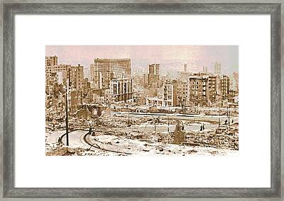 San Francisco After The 1906 Earthquake Framed Print