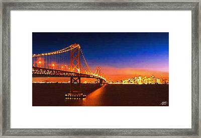 San Francisco At Night Framed Print by Steve Huang