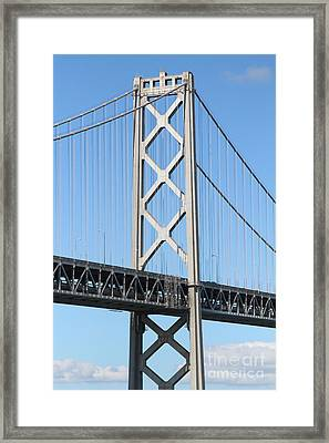 San Francisco Bay Bridge At The Embarcadero . 7d7717 Framed Print