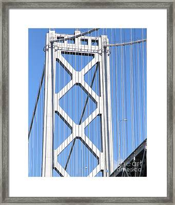 San Francisco Bay Bridge At The Embarcadero . 7d7760 Framed Print