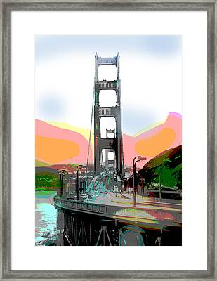 San Francisco Bay Bridge Framed Print by Charles Shoup