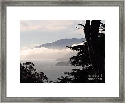 San Francisco Bay Fog Framed Print
