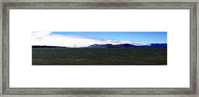 San Francisco Bay Panorama Framed Print by Michael Courtney