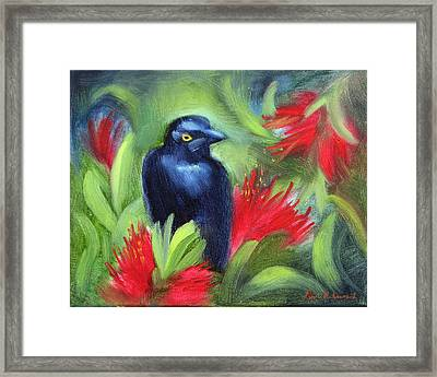 San Francisco Black Bird Framed Print by Karin  Leonard