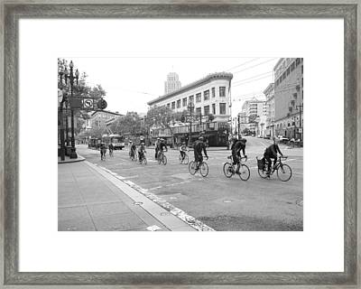 San Francisco By Cycle Framed Print by Thomas Brown