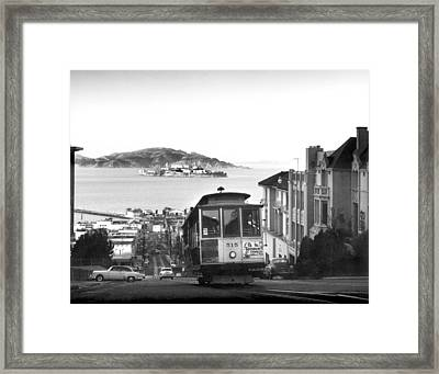 San Francisco Cable Car Framed Print by Underwood Archives