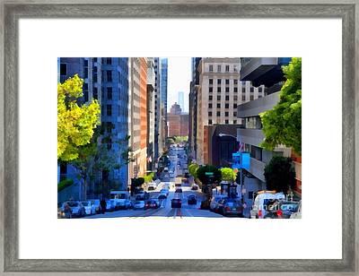 San Francisco California Street  . 7d7186 Framed Print by Wingsdomain Art and Photography