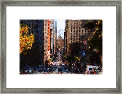 San Francisco California Street  . Painterly . 7d7186 Framed Print by Wingsdomain Art and Photography