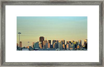 Framed Print featuring the photograph San Francisco Cityline by Rima Biswas
