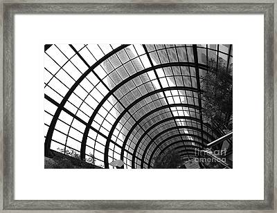 San Francisco Crocker Galleria - 5d17869 - Black And White Framed Print by Wingsdomain Art and Photography