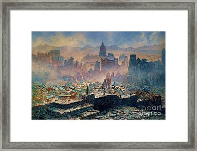 San Francisco Earthquake Framed Print by Pg Reproductions