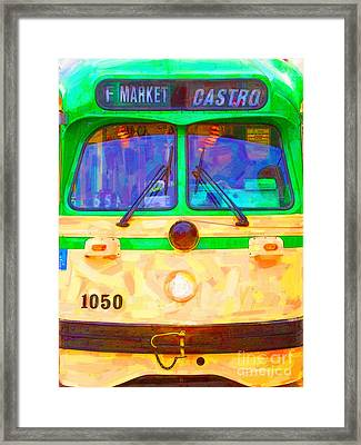 San Francisco F-line Streetcar Front Side Framed Print by Wingsdomain Art and Photography