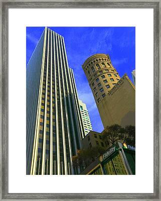 San Francisco Financial District Framed Print