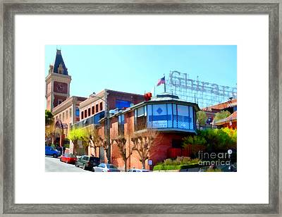 San Francisco Ghirardelli Chocolate Factory . 7d14093 Framed Print